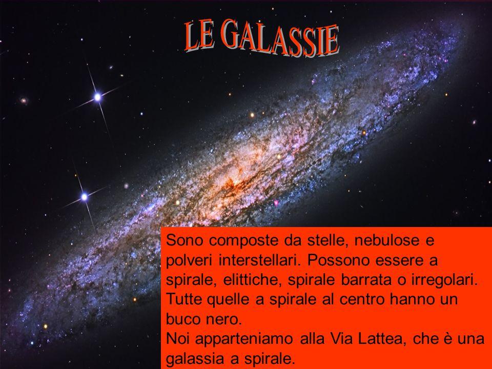 Sono composte da stelle, nebulose e polveri interstellari.