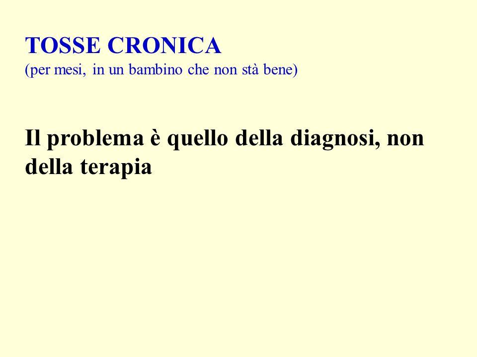 TOSSE CRONICA (per mesi, in un bambino che non stà bene) Il problema è quello della diagnosi, non della terapia