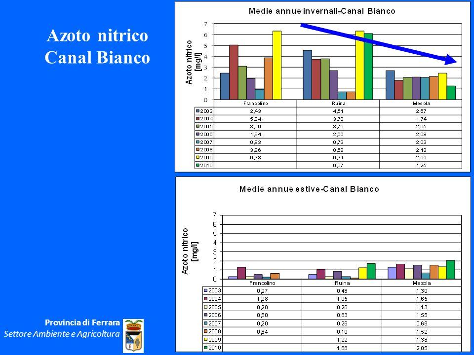 Azoto nitrico Canal Bianco Provincia di Ferrara Settore Ambiente e Agricoltura