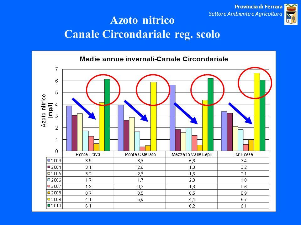 Azoto nitrico Canale Circondariale reg. scolo Provincia di Ferrara Settore Ambiente e Agricoltura