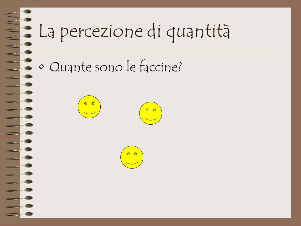 La percezione di quantità Quante sono le faccine?