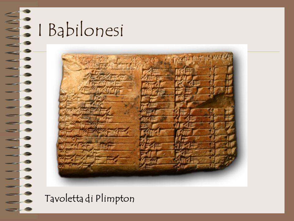 Tavoletta di Plimpton I Babilonesi