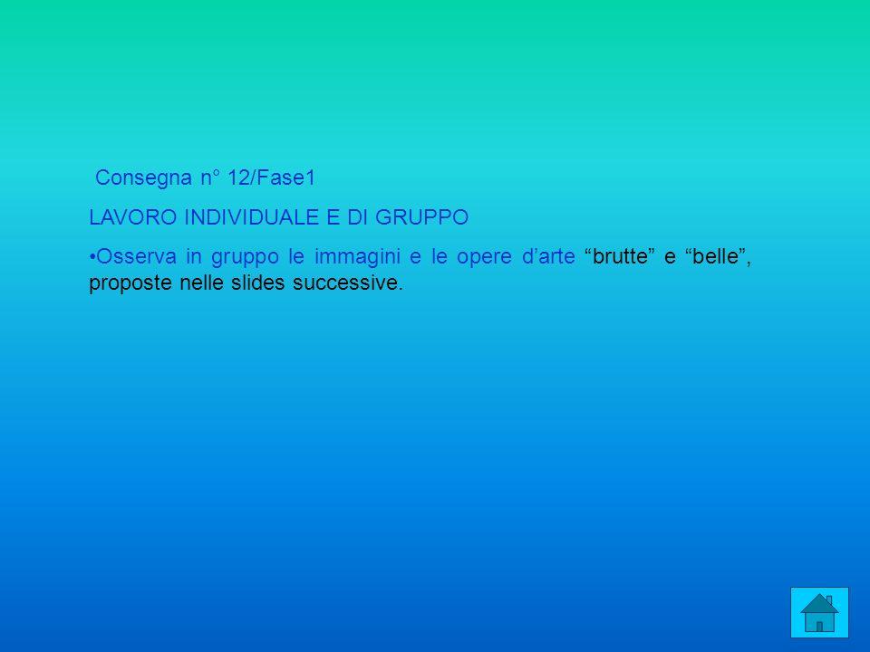 Consegna n° 12/Fase1 LAVORO INDIVIDUALE E DI GRUPPO Osserva in gruppo le immagini e le opere darte brutte e belle, proposte nelle slides successive.