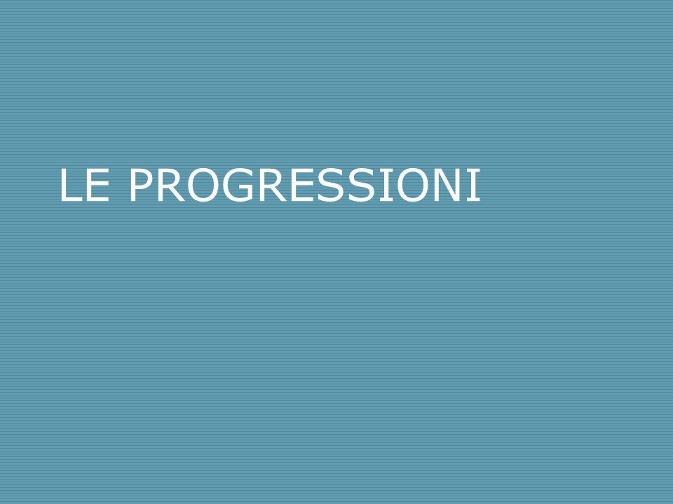 LE PROGRESSIONI