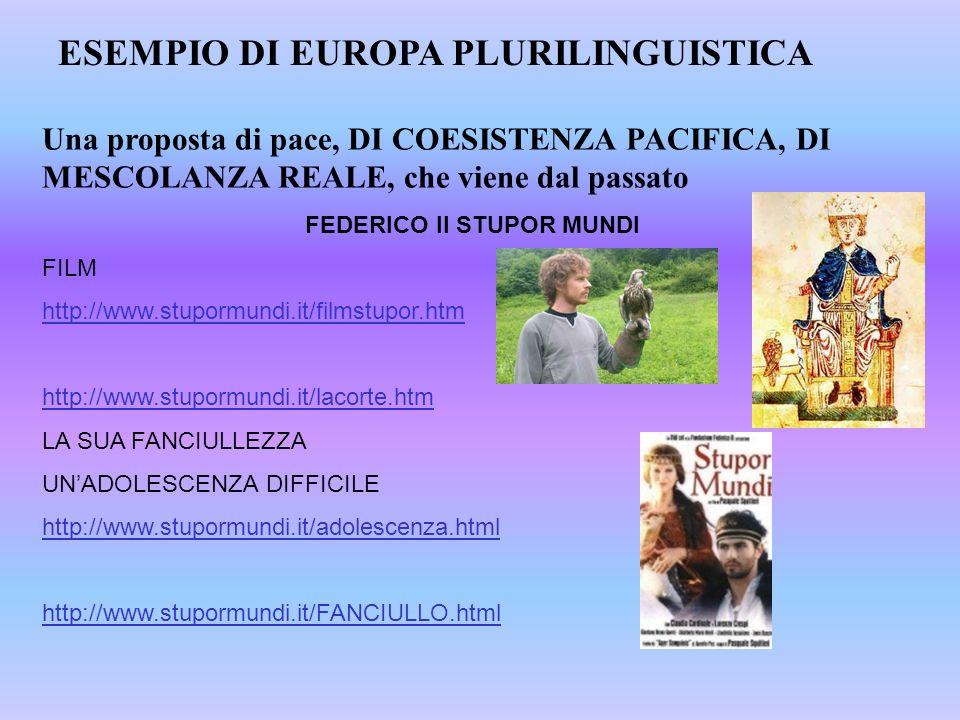 Una proposta di pace, DI COESISTENZA PACIFICA, DI MESCOLANZA REALE, che viene dal passato FEDERICO II STUPOR MUNDI FILM http://www.stupormundi.it/film