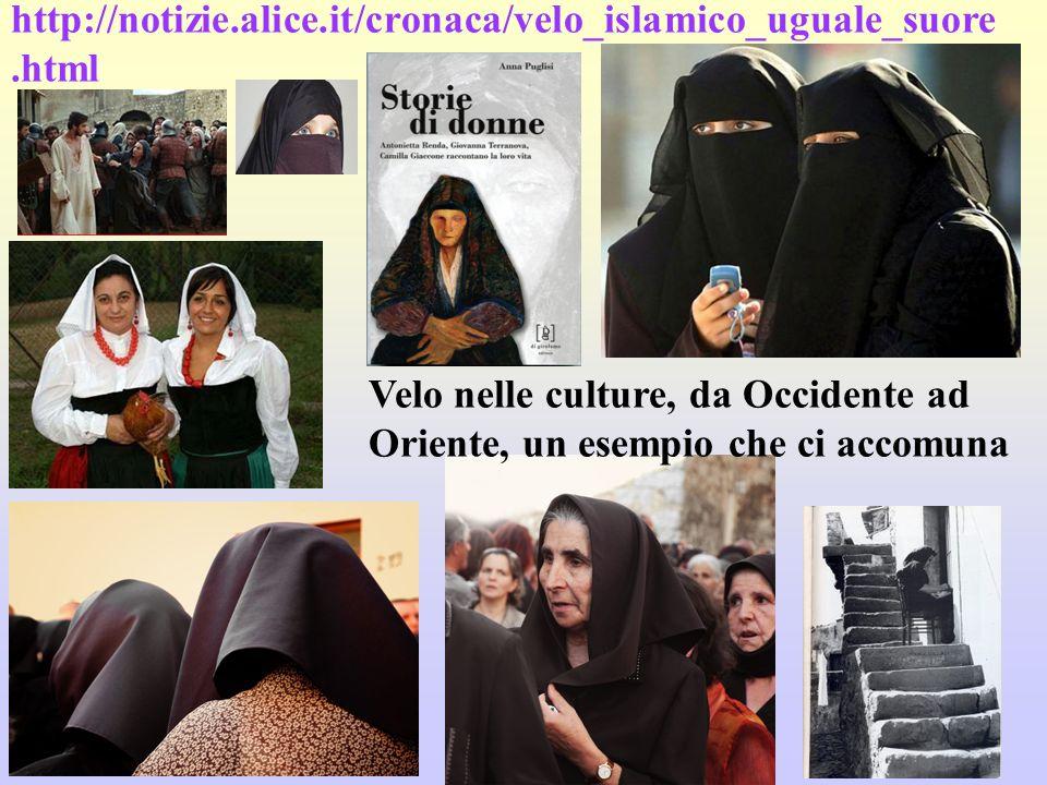 Velo nelle culture, da Occidente ad Oriente, un esempio che ci accomuna http://notizie.alice.it/cronaca/velo_islamico_uguale_suore.html