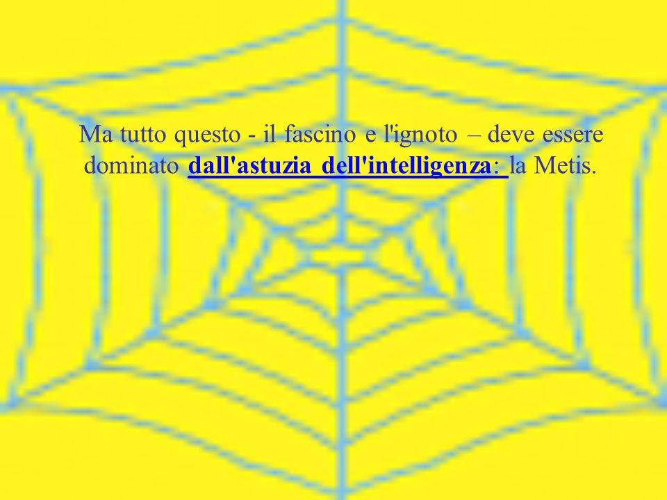 Ma tutto questo - il fascino e l'ignoto – deve essere dominato dall'astuzia dell'intelligenza: la Metis.dall'astuzia dell'intelligenza: