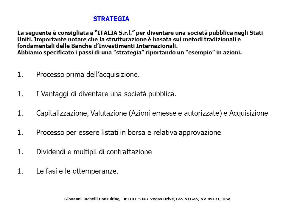 STRATEGIA La seguente è consigliata a ITALIA S.r.l.