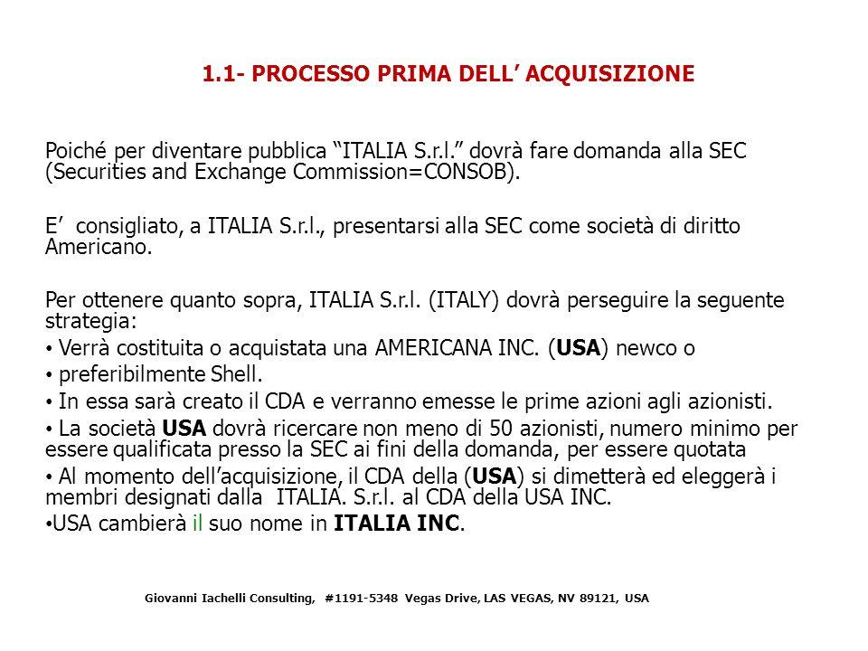 Poiché per diventare pubblica ITALIA S.r.l.
