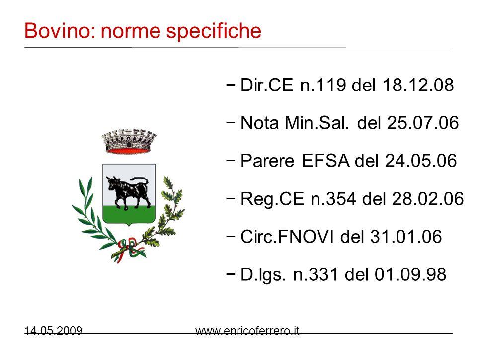 14.05.2009 www.enricoferrero.it Avicunicoli: norme generiche Dec.Ce n.50 del 17.12.99 Reg.CE n.1804 del 19.07.99 D.lgs.