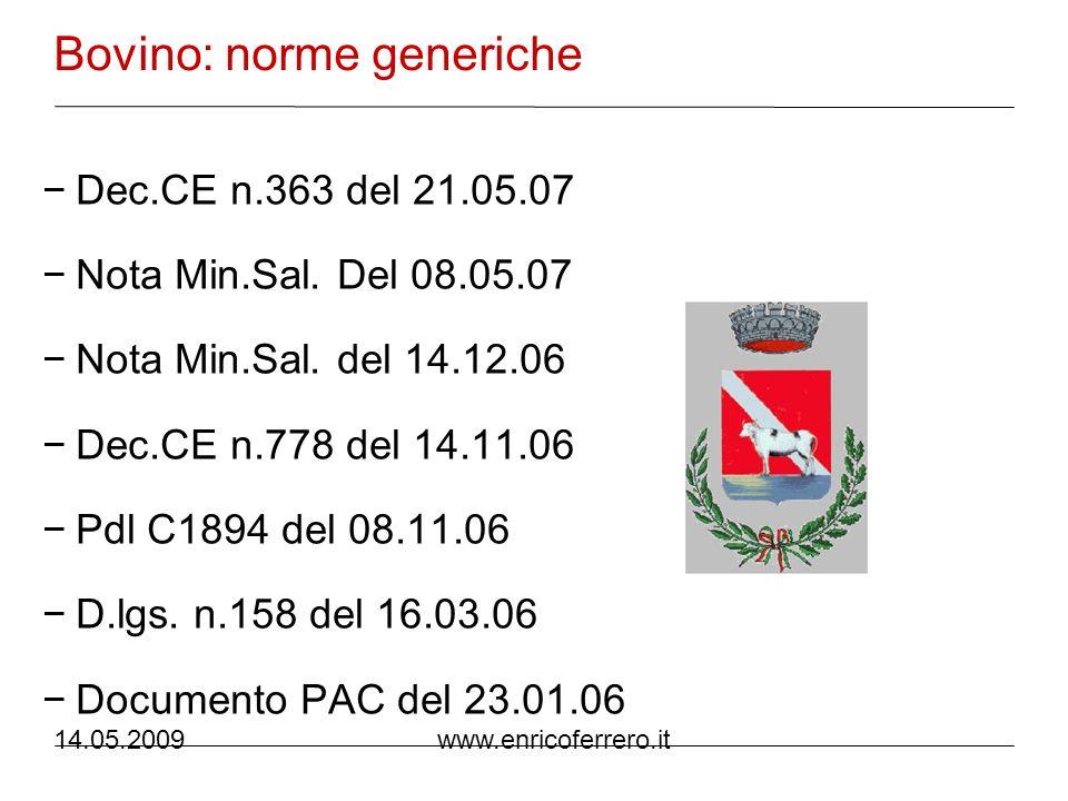 14.05.2009 www.enricoferrero.it TAR Lazio, sentenza n.