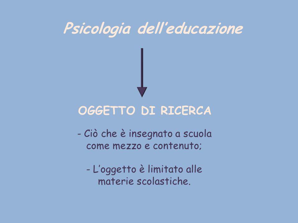 Differenze di contenuto complicate da: - Mancato studio nella psicologia dello sviluppo dei concetti manualistici insegnati a scuola.