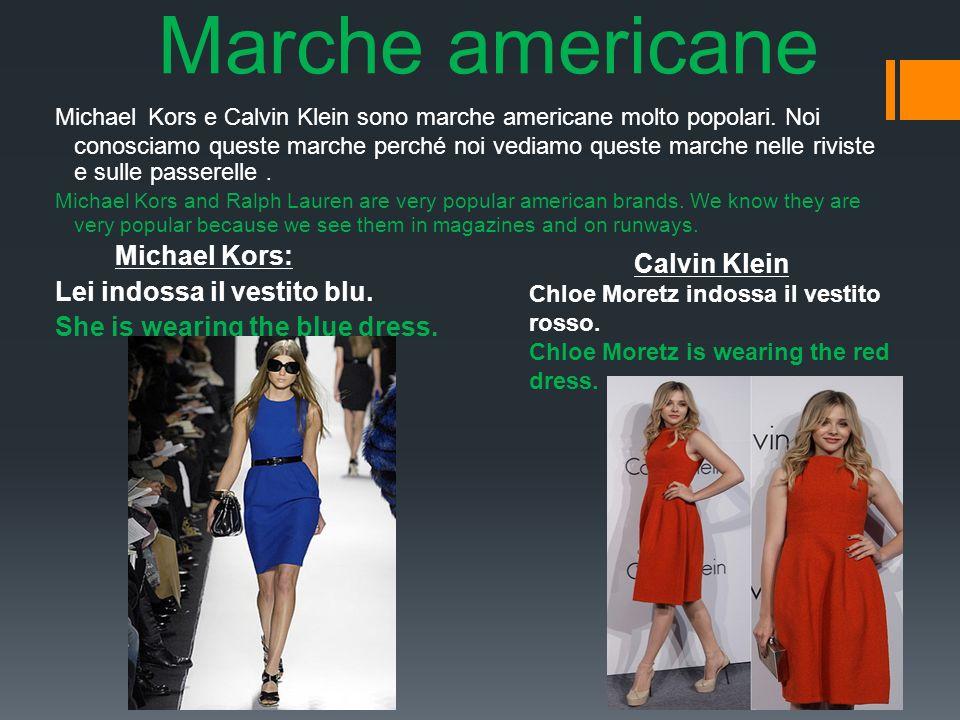 Marche americane Michael Kors e Calvin Klein sono marche americane molto popolari.