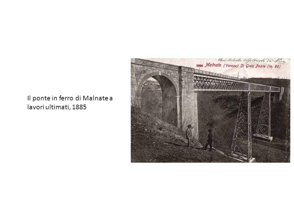 Il ponte in ferro di Malnate a lavori ultimati, 1885