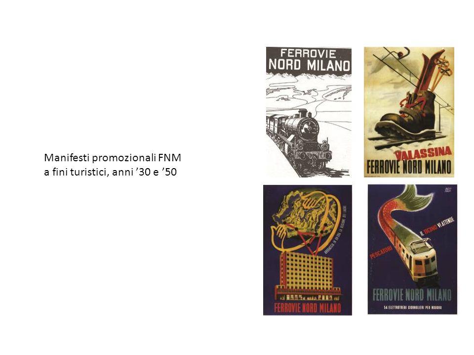 Manifesti promozionali FNM a fini turistici, anni 30 e 50