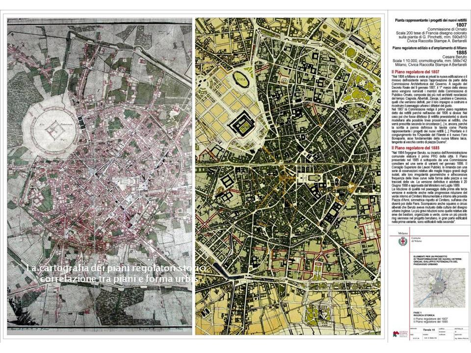 La cartografia dei piani regolatori storici: correlazione tra piani e forma urbis