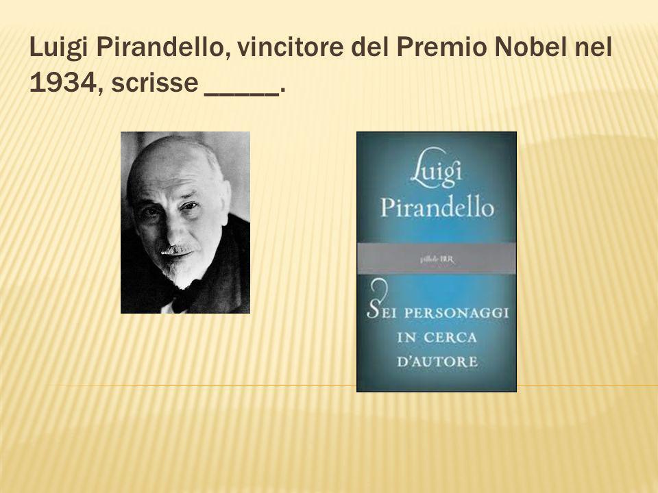 I Promessi Sposi è un famoso romanzo di _____. Alessandro Manzoni