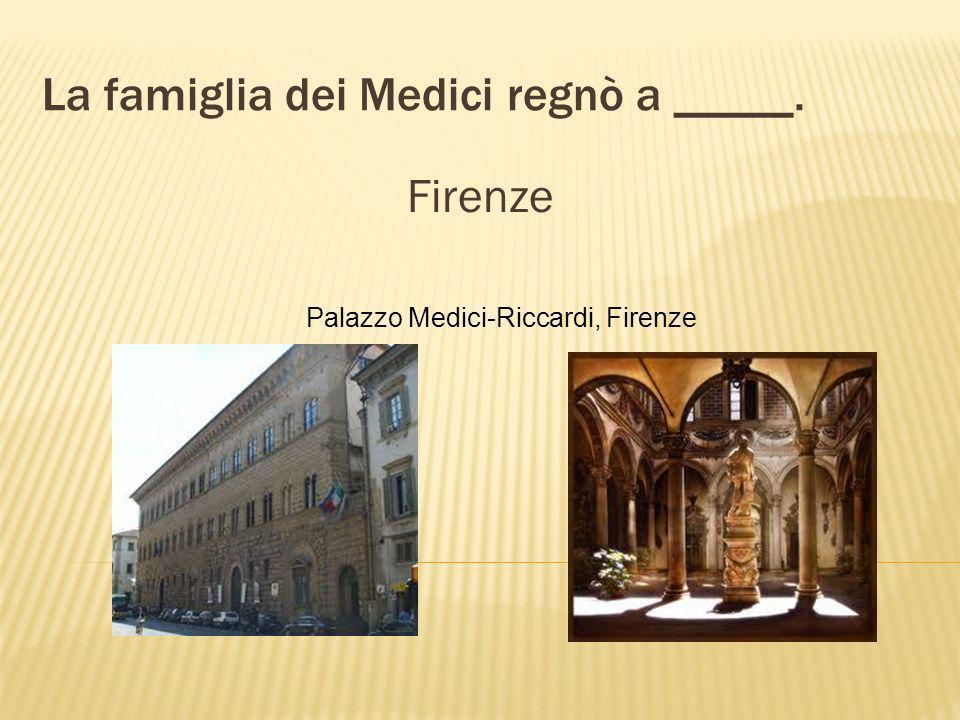 Lorenzo il Magnifico appartenne alla famosa famiglia _____. dei Medici
