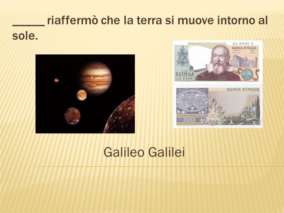 Galileo è un famoso _____ italiano. scienziato telescopio
