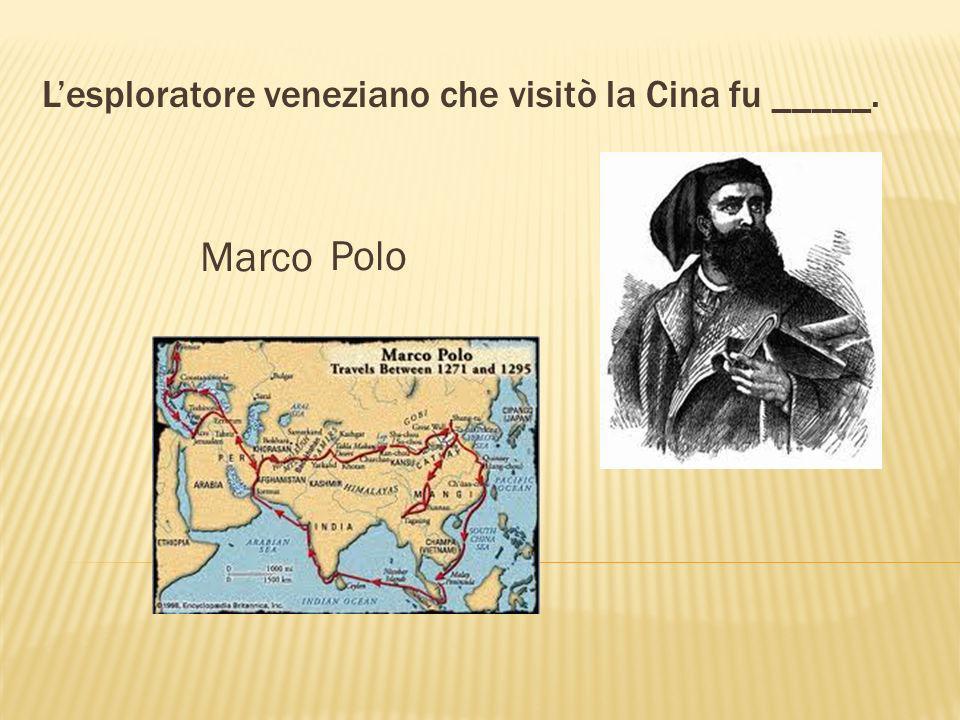 Il nome America deriva dal famoso navigatore _____. Amerigo Vespucci