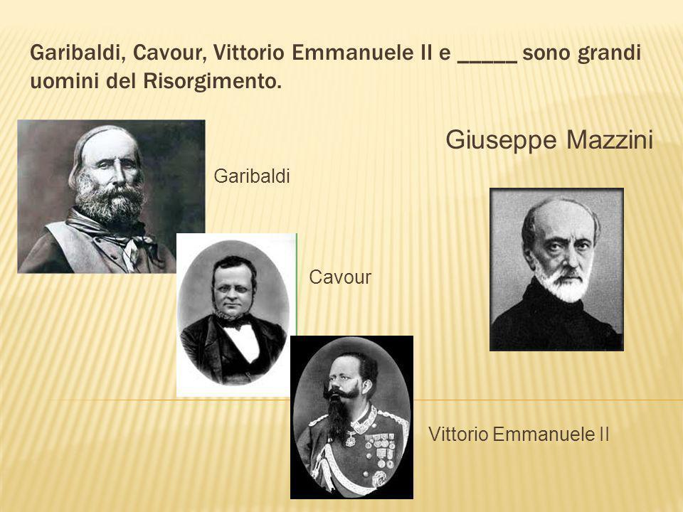 Il periodo dellunificazione dItalia si chiama ____. il Risorgimento
