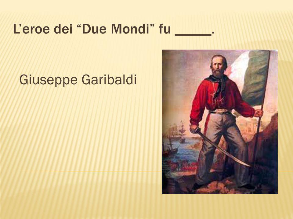 Il Capo della Spedizione del Mille fu _____. Giuseppe Garibaldi