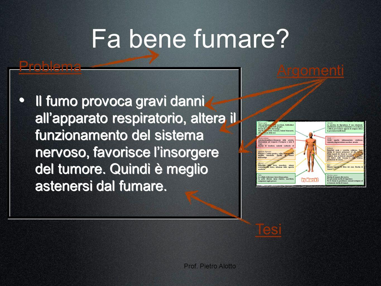 Prof. Pietro Alotto Fa bene fumare.