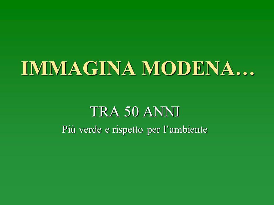 IMMAGINA MODENA… TRA 50 ANNI Più verde e rispetto per lambiente
