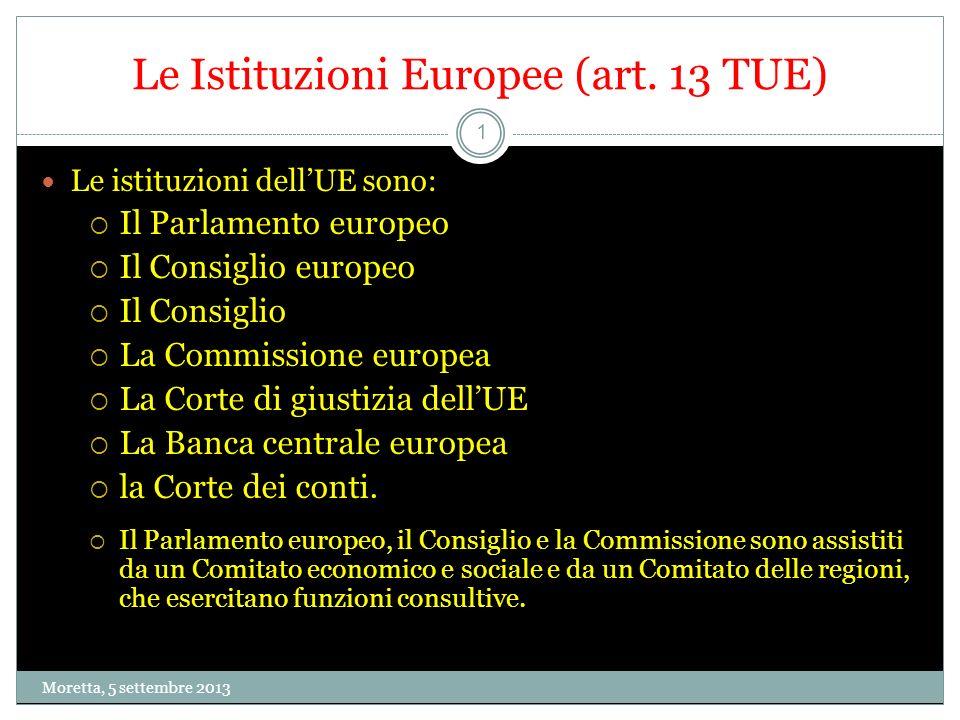 1 Le Istituzioni Europee (art.