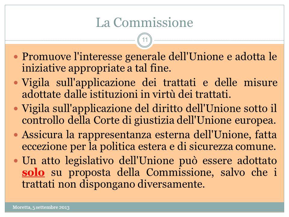La Commissione Promuove l interesse generale dell Unione e adotta le iniziative appropriate a tal fine.