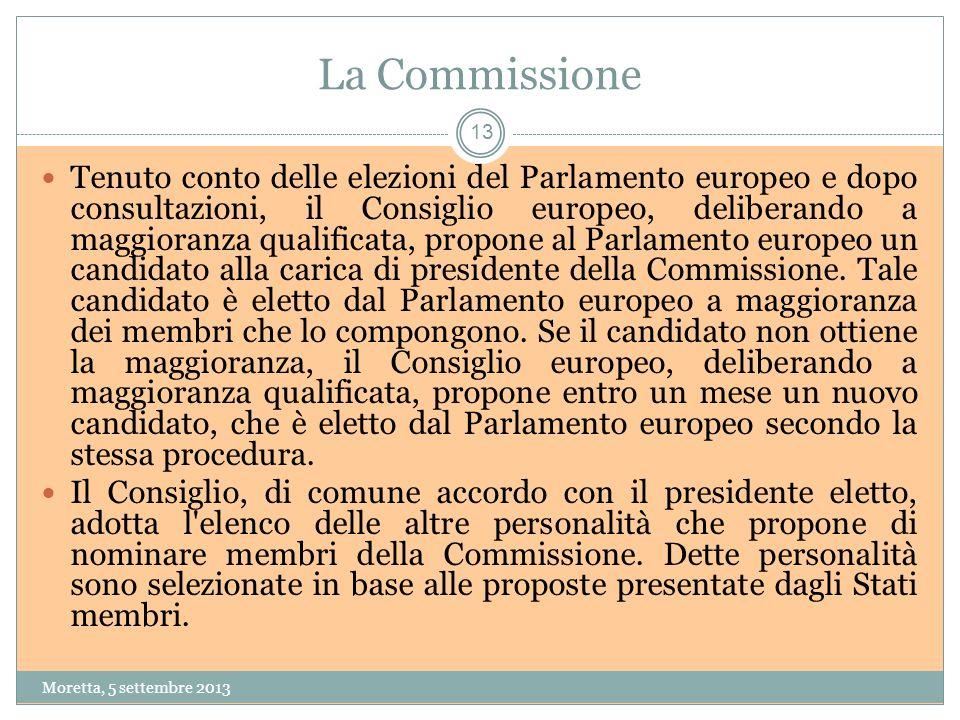 La Commissione Tenuto conto delle elezioni del Parlamento europeo e dopo consultazioni, il Consiglio europeo, deliberando a maggioranza qualificata, propone al Parlamento europeo un candidato alla carica di presidente della Commissione.