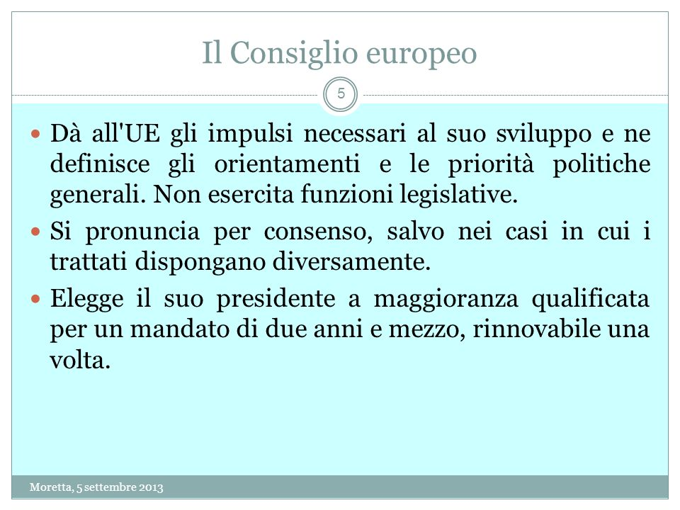 26 La procedura di infrazione Moretta, 5 settembre 2013 26.