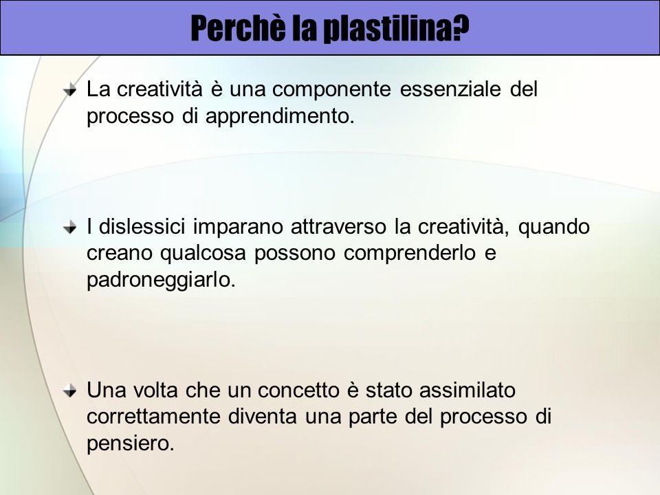Perchè la plastilina.La creatività è una componente essenziale del processo di apprendimento.