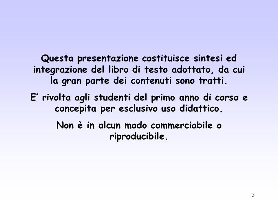2 Questa presentazione costituisce sintesi ed integrazione del libro di testo adottato, da cui la gran parte dei contenuti sono tratti. E rivolta agli