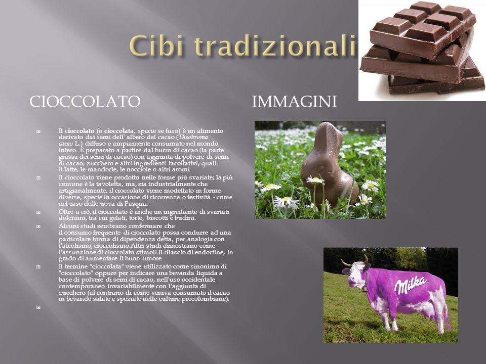 CIOCCOLATO IMMAGINI Il cioccolato (o cioccolata, specie se fuso) è un alimento derivato dai semi dell' albero del cacao ( Theobroma cacao L.) diffuso