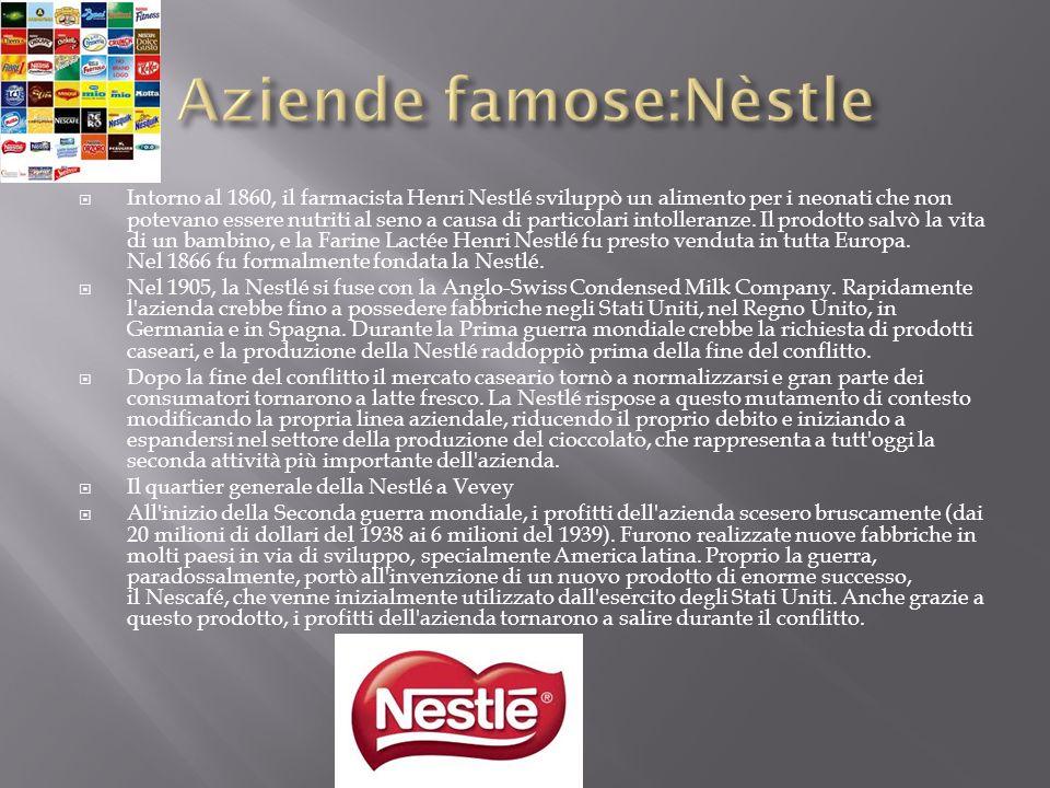 Intorno al 1860, il farmacista Henri Nestlé sviluppò un alimento per i neonati che non potevano essere nutriti al seno a causa di particolari intoller