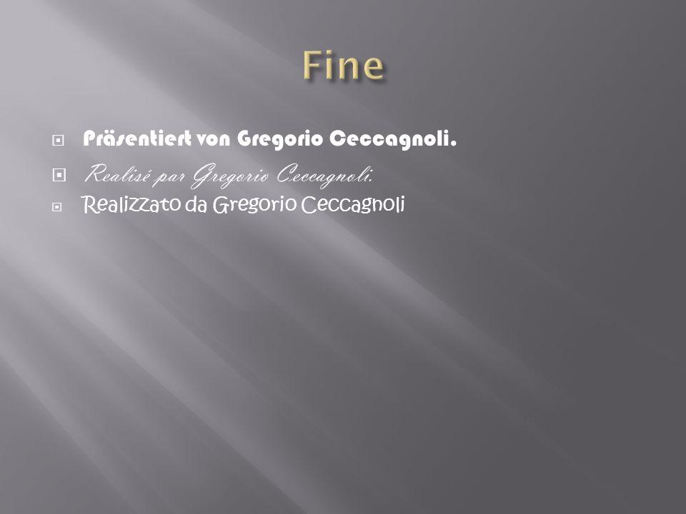 Präsentiert von Gregorio Ceccagnoli. Realisé par Gregorio Ceccagnoli. Realizzato da Gregorio Ceccagnoli