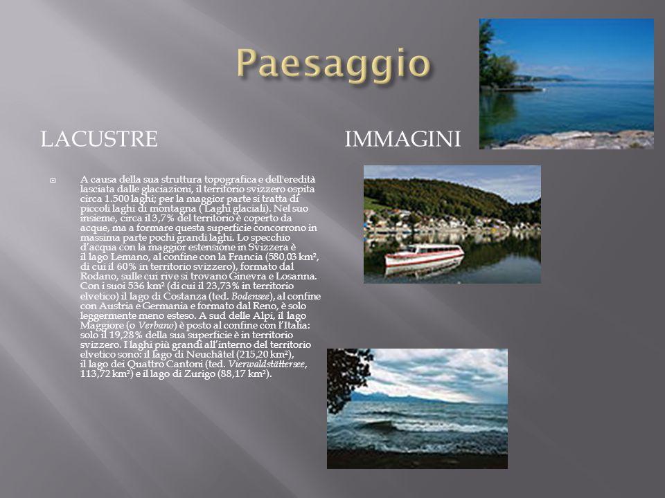 LACUSTRE IMMAGINI A causa della sua struttura topografica e dell'eredità lasciata dalle glaciazioni, il territorio svizzero ospita circa 1.500 laghi;
