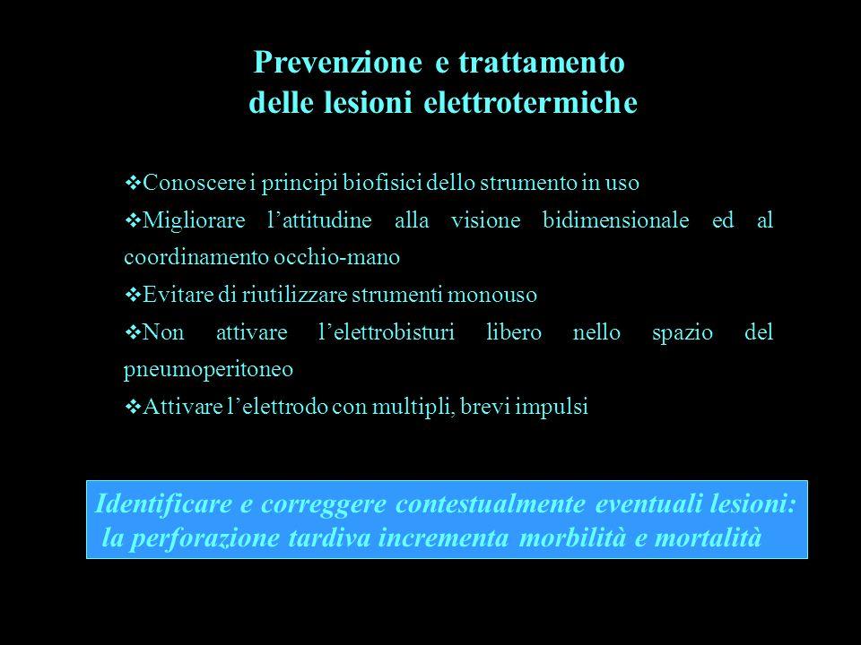 Prevenzione e trattamento delle lesioni elettrotermiche Conoscere i principi biofisici dello strumento in uso Migliorare lattitudine alla visione bidi