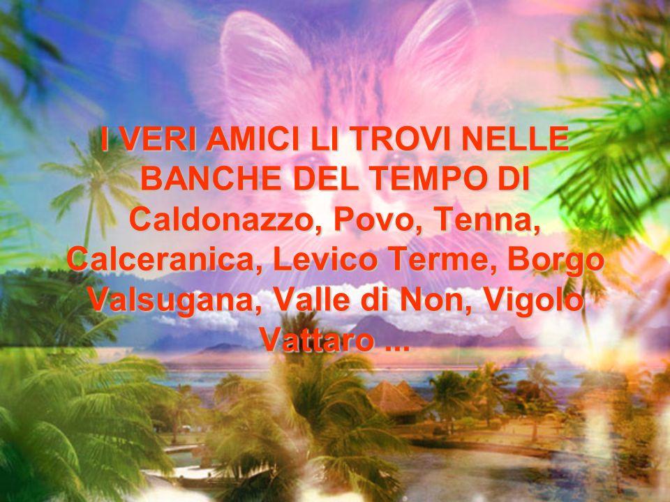 I VERI AMICI LI TROVI NELLE BANCHE DEL TEMPO DI Caldonazzo, Povo, Tenna, Calceranica, Levico Terme, Borgo Valsugana, Valle di Non, Vigolo Vattaro...