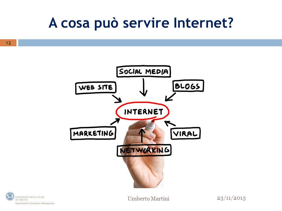 A cosa può servire Internet 12 23/11/2013 Umberto Martini