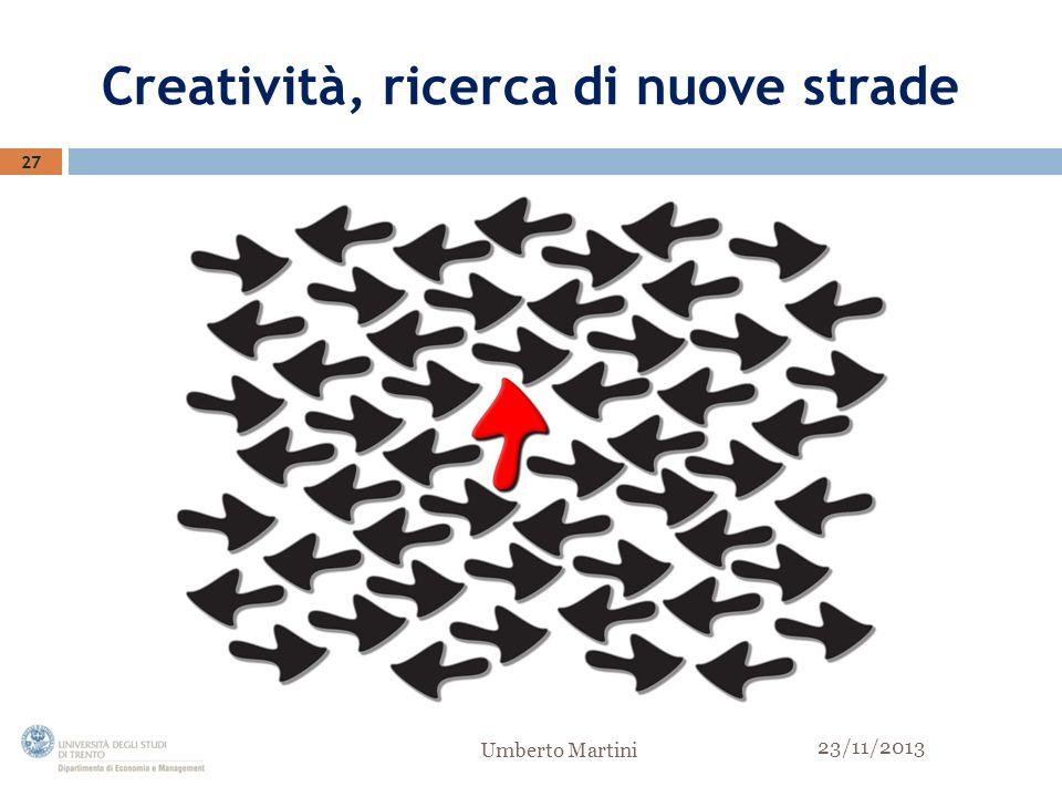 Creatività, ricerca di nuove strade 27 23/11/2013 Umberto Martini