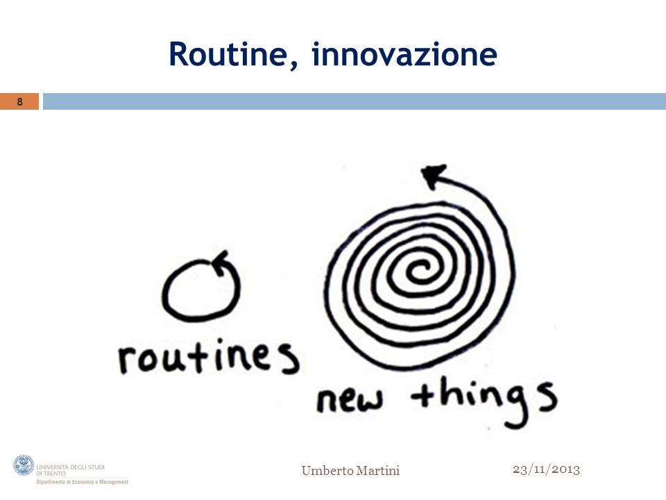 Routine, innovazione 8 Umberto Martini 23/11/2013