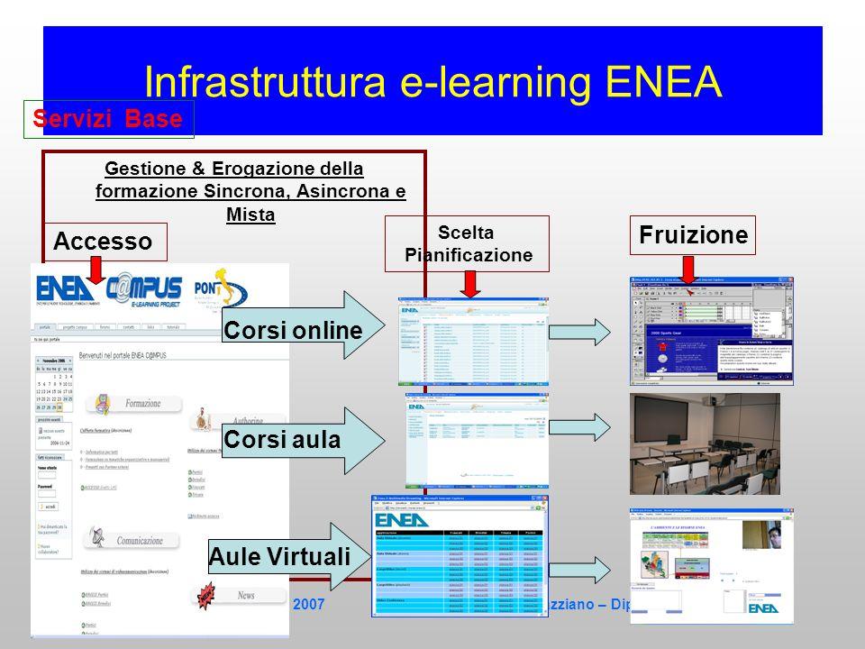 Scuolambiente – Catania 30 Marzo 2007 Stefano Gazziano – Dip. Fisica e Materiali Infrastruttura e-learning ENEA Gestione & Erogazione della formazione