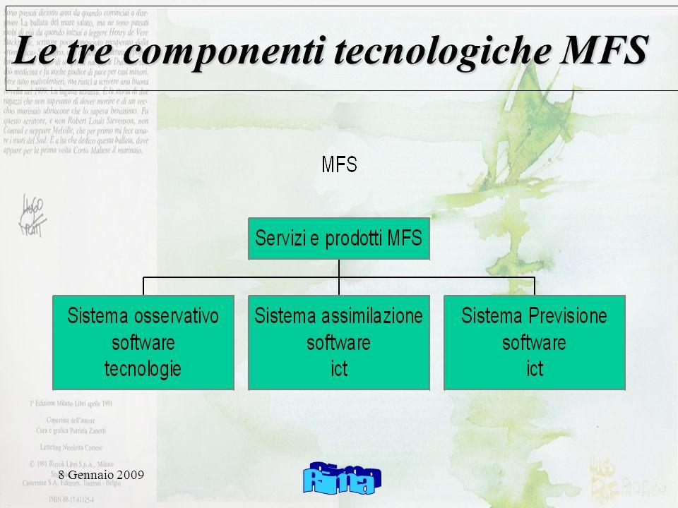 8 Gennaio 2009 Le tre componenti tecnologiche MFS
