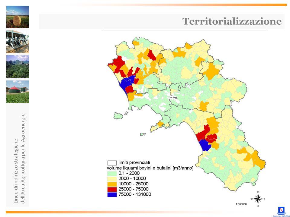 Linee di indirizzo strategiche dellArea Agricoltura per le Agroenergie Territorializzazione