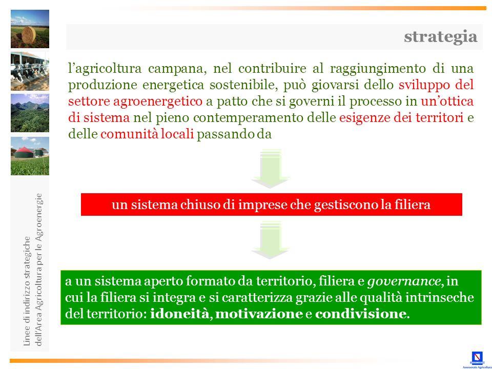 Linee di indirizzo strategiche dellArea Agricoltura per le Agroenergie lagricoltura campana, nel contribuire al raggiungimento di una produzione energ
