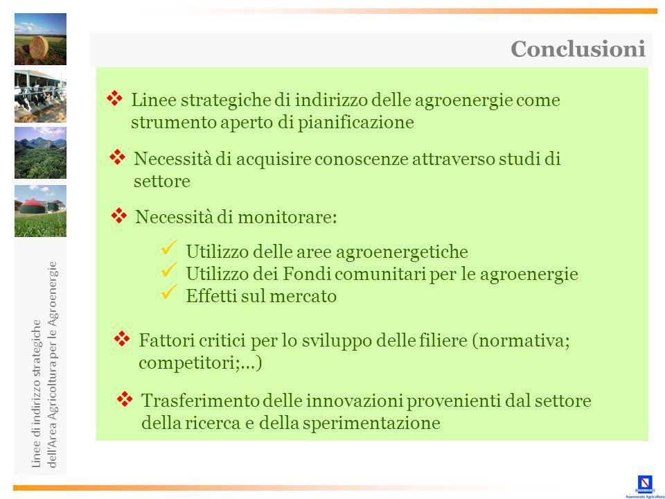 Linee di indirizzo strategiche dellArea Agricoltura per le Agroenergie Linee strategiche di indirizzo delle agroenergie come strumento aperto di piani