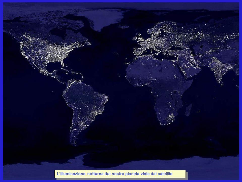 Lilluminazione notturna del nostro pianeta vista dal satellite