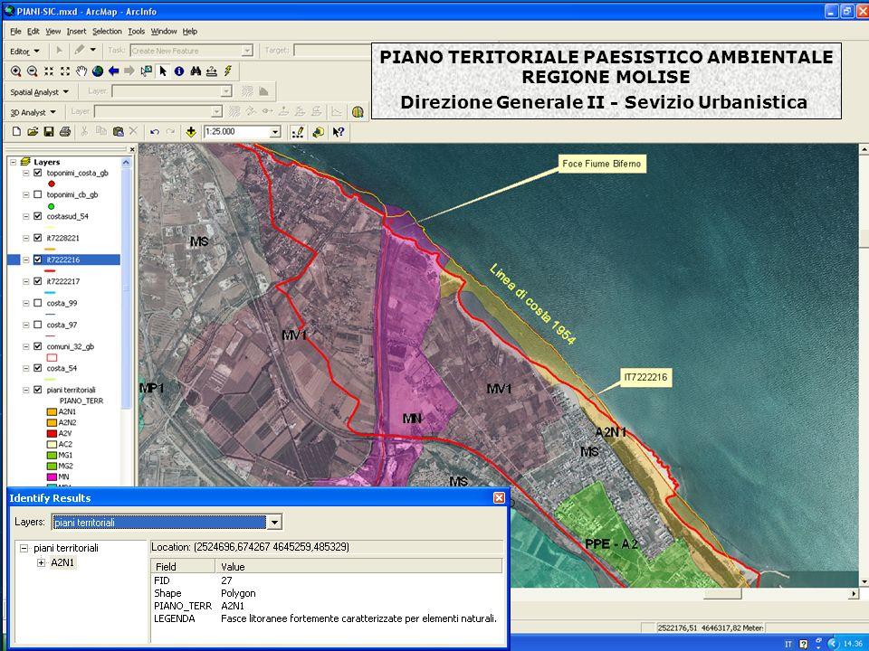 PIANO TERITORIALE PAESISTICO AMBIENTALE REGIONE MOLISE Direzione Generale II - Sevizio Urbanistica